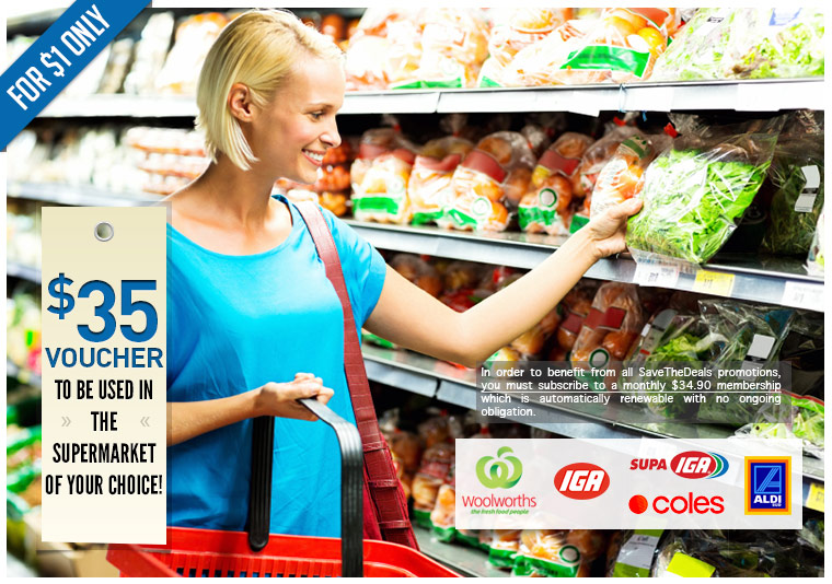 A $35 Voucher valid at any supermarket