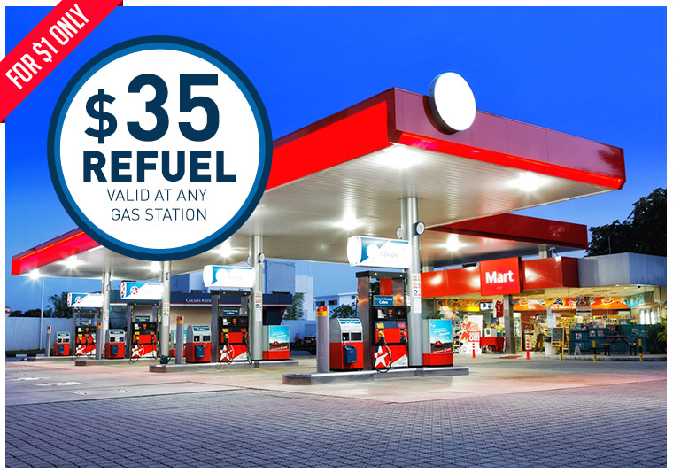 $35 Refuel Valid at any Gas Station