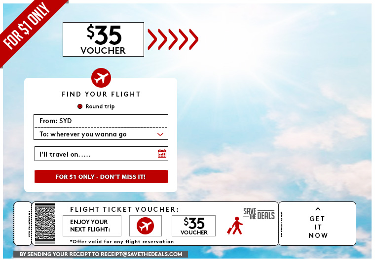 Enjoy your next flight: $35 Voucher