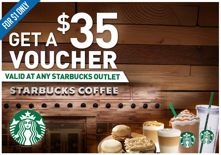 A $35 Voucher Valid at any Starbucks Outlet